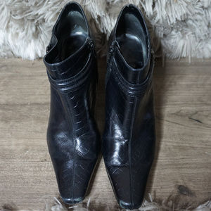 Nine West Ankle Bootie | Leather Snakeskin | 8.5M